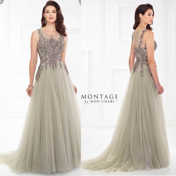 Plus Size Mon Cheri Tulle Dress NWT